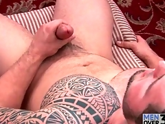 Great cackling mainly by oneself masturbating guy