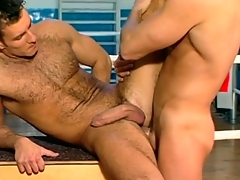 Hard guys try anal sexual congress for a warm-up