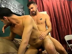 Amazing gay scene Vampish Jake Steel knows three way to r