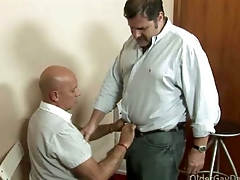 Gay pater loves to fuck his handyman hard