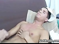 Down-and-out forthright boy jerking for money part3