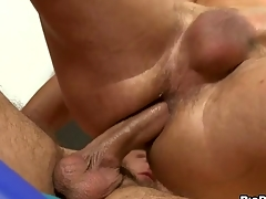 Unfathomed anal thrashing with cute gay lad and hunk