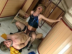 Sex-addicted sissy guy getting his desirous fuckhole filled with bulky meat
