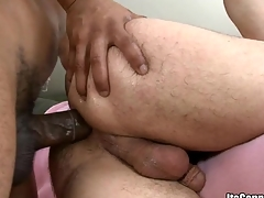 Cute little twink engulfing  a large monster dong