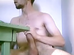 Seductive poof is carrying-on in a small room coupled with shooting himself on camera