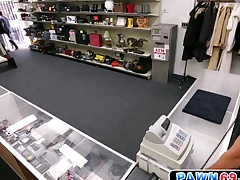 Straight dude moans as he gets fucked in pawn shop