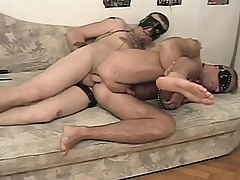 Deviant slave has his hung master at hand banging his hungry anal opening