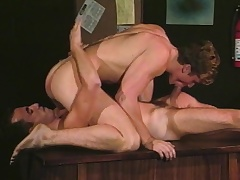 Uncaring studs Alec and David stick their big dicks in the mouth and aggravation