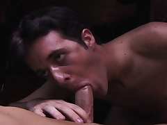 Two handsome gay buddies enjoying hardcore anal sex on the pool table