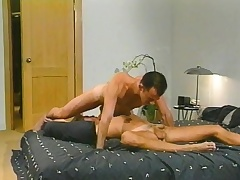 Dispirited blonde pencil has a horny guy sucking his dick and banging his ass