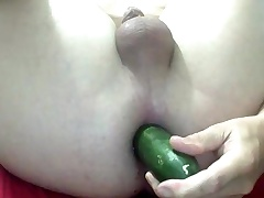 cucummber fuck hole
