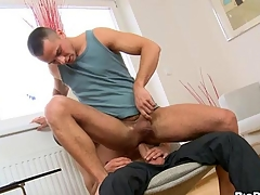 Hot hunk is pounding his lovers arse gap resonant