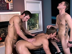 A triple of fixed detached cocks always provides of a hot threesome show