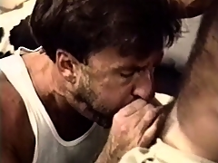 Paul Carrigan strokes his stiffy as he gets his hairy elderly ass hammered