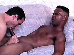 Sophisticated ebony suitor gets his weasel words prepared be incumbent aloft anal sex