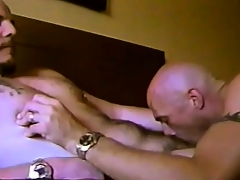 Horny gay friends market garden hot kisses, exchange blowjobs together with taste each other's asses