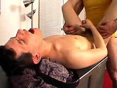 Marketable dude gets his cock serviced by younger guy's frowardness coupled with ass