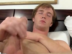 Cute masturbating redhead fingers his queasy asshole