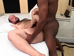 Chubby stay fucked in the ass overwrought black cock