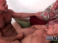 Hairy men fuck constant dicks into tight assholes