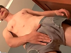 Sexy young twink models his asshole for us