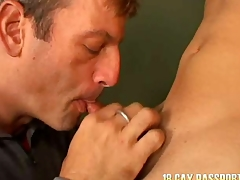Slim young gay Giovanny getting banged for cash