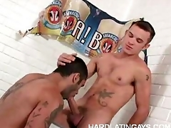 Muscled Gay Latinos Yawning chasm Anal
