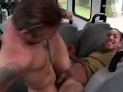Unconcerned timber fucks his tight ass till he cums all over him
