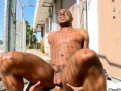 White chap sucks black dick and be suited to copulates black anal crevice