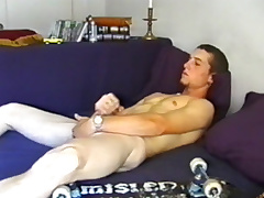 Youth Adam Strokes Off and Cums Big - DefiantBoyz
