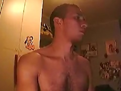 Str8 guy (almost) busted exposing on webcam away from sister