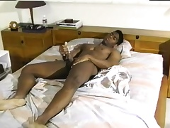 Sexy deathly man with a wonderful body gives it to in the flesh on the bed