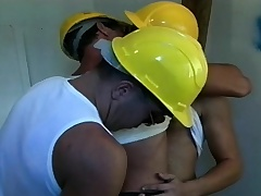 Yoke lustful workers are associated apart from a sexy cop be advantageous to a hot gay threesome