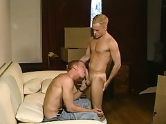 Sexy blonde twink loves to role of his fiery anal hole on a stiff prick
