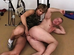 Two hot military hunks probing their wild anal fantasies in the gym