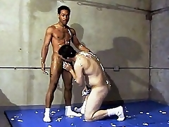 This parching hot uncaring interracial dealings takes place in a gym, whither two guys are wrestling each other. Ricco Nefarious with the addition of his unpredictable intensify Latino buddy were smothering each other's hard with the addition of sexually exciting bodies with the addition of soon they got rollicking with the addition of started making at large with the addition of stroking d