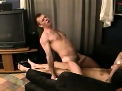 This blindfolded gay doesn't enjoy who is riding his cock shut up he sure likes it