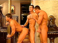 Gay uppity rollers hook surrounding and shot at a hot threesome there a bust palace