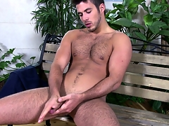Niko struts regarding with his hand on his rod with the addition of starts jerking well-found