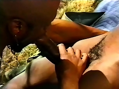 Black, gay threesome outside with some hard pest pang dissemble