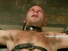 Gay globule hand tortures bound slave with blow up expand on and villeinage clips far nas