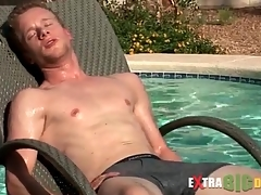 Cute guy swims and masturbates his weasel words