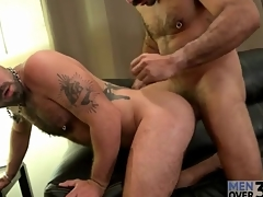 Tattooed bears helter-skelter blowjob and rimjob video