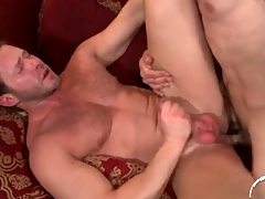 Thickly muscled design bottoms in anal intercourse motion picture