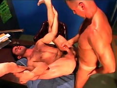 Gym tutor fucks his hairy student in put emphasize ass