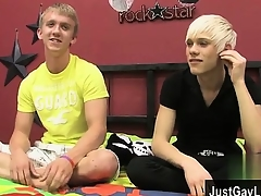 Gay movie These duo blond fellows team on touching to perforate perk up apply b