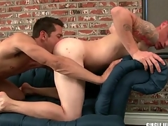Sexy guy sucks a gumshoe added to licks tight asshole