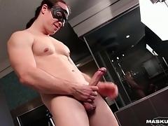 Big cock guy fucks a sexual intercourse toy deep