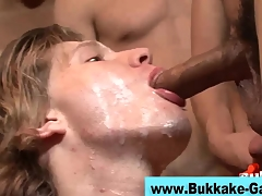 Interracial gay bukkake scene 4