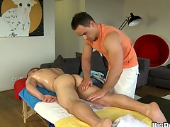 Horny man sucking giant hard cock be beneficial to his lovely boyfriend, enjoy